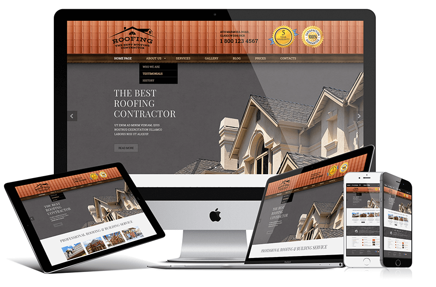 Roofing Responsive Design