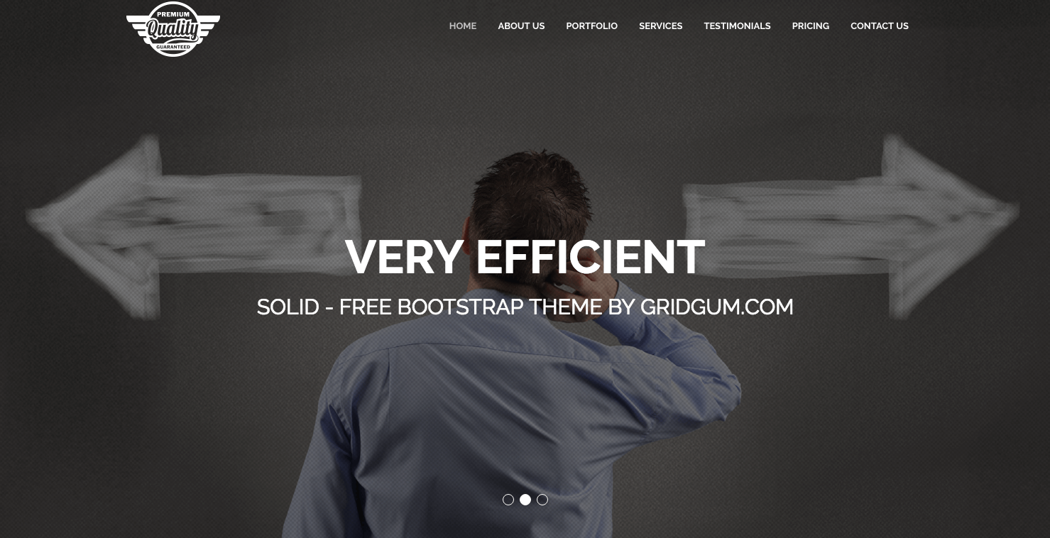 Solid free bootstrap theme