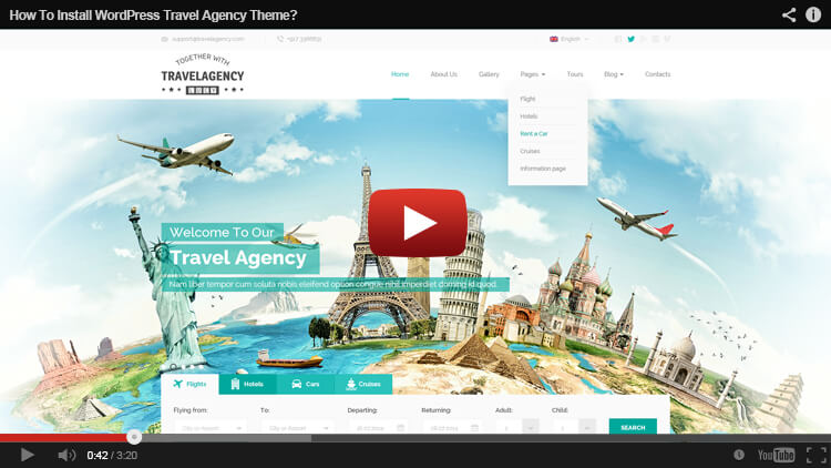 HOW TO INSTALL Travel Agency WordPress THEME