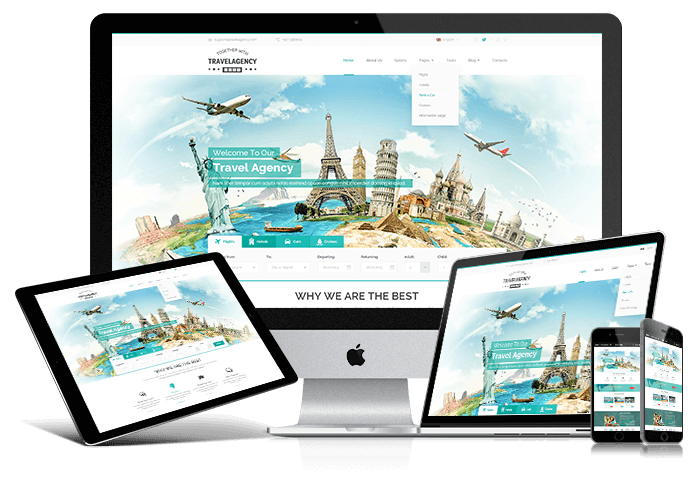 Responsive Travel agency WordPress