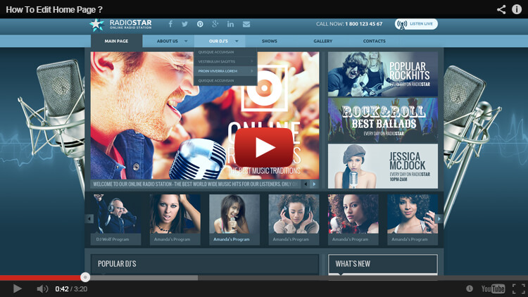 HOW TO EDIT HOME PAGE in BlueRadio WORDPRESS THEME