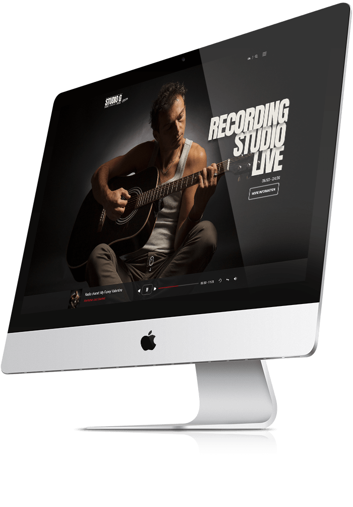 Sound studio bootstrap template