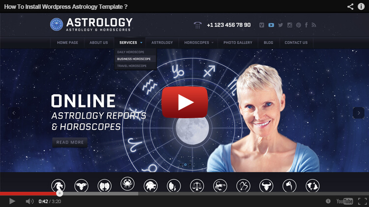 HOW TO INSTALL ASTROLOGY THEM IN WORDPRESS