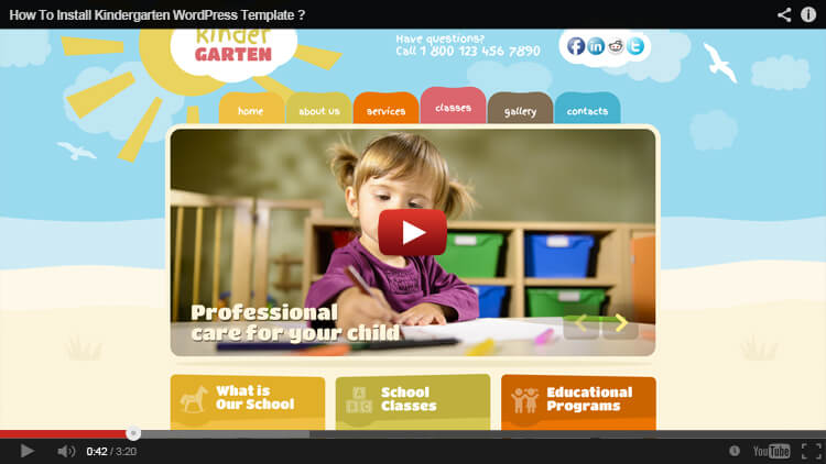 How to install WordPress Kindergarten theme