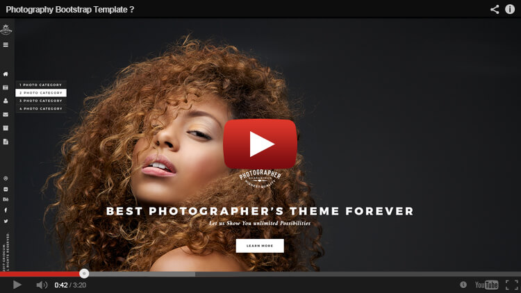 Photography template Youtube thumb
