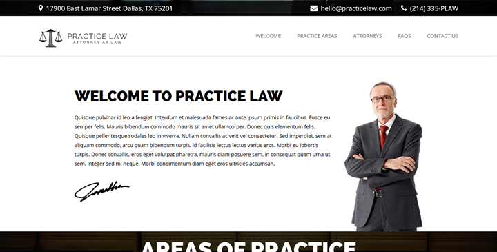 Practice Law - Lawyer website template