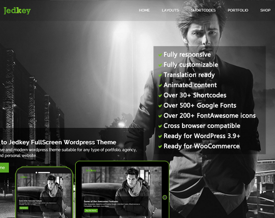 Jedkey - Responsive WordPress Theme