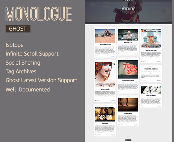 Monologue - Responsive Ghost Theme