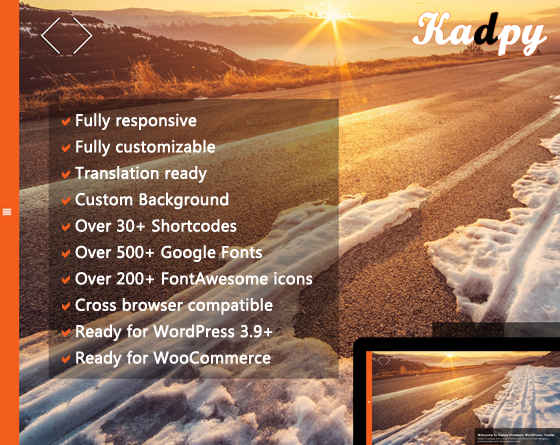 Kadpy - Responsive Wordpress Theme