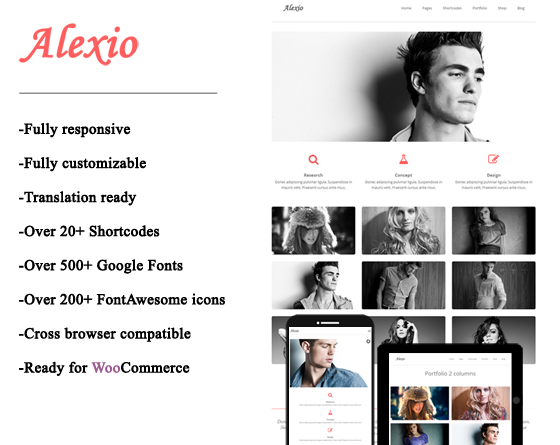 Alexio - Minimalist Wordpress Theme