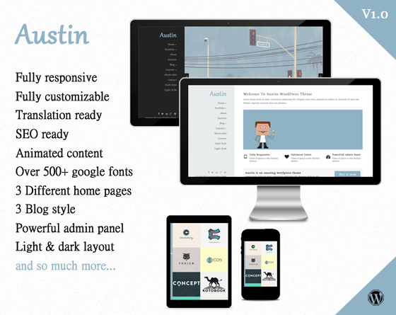 Austin - Creative WordPress Theme