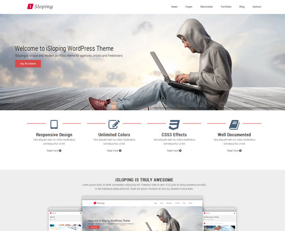 iSloping u2013 Multipurpose WordPress Theme