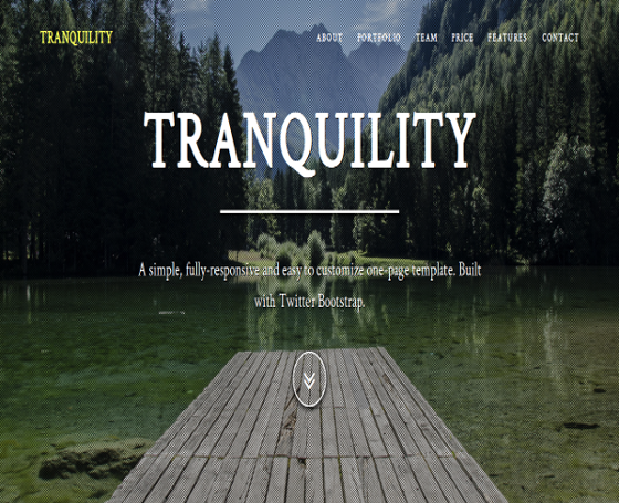 Tranquility - Responsive One-Page Theme