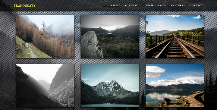 Tranquility - Responsive One-Page HTML5 Template