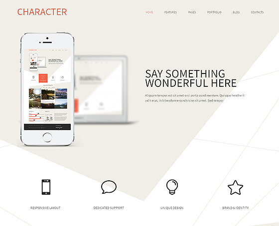Character Bootstrap Theme