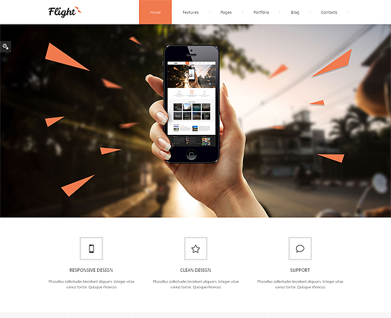 Flight Responsive Bootstrap Theme