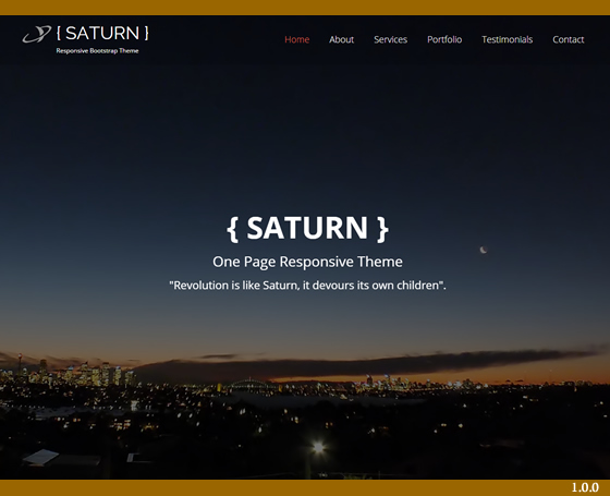 SATURN - One Page Responsive Template