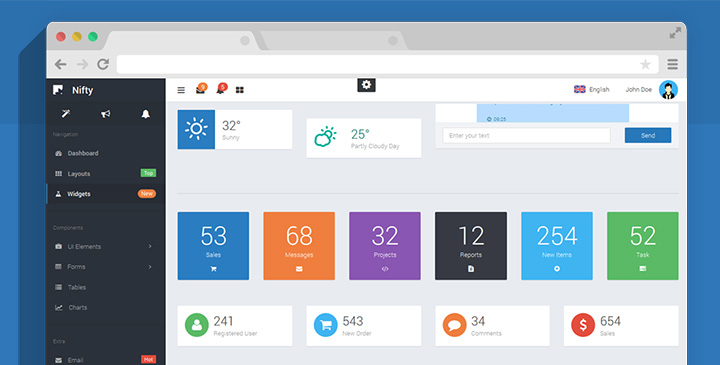 Nifty -  Admin Dashboard Template