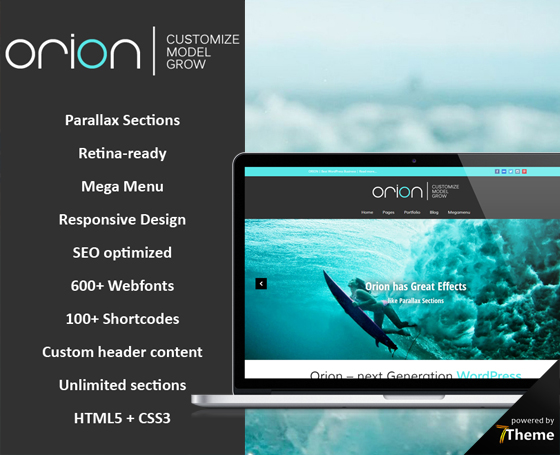 Orion - Parallax WordPress Theme