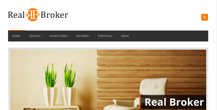 Realbroker - Wordpress real estate themes
