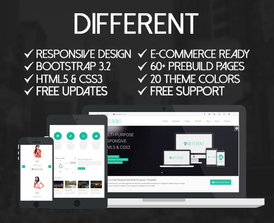Different - MultiPurpose Template