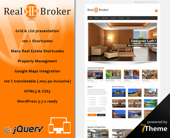 Realbroker - Real Estate WordPress Theme