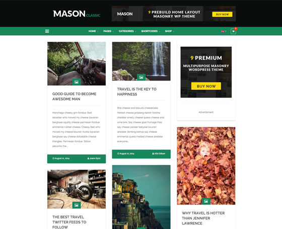 Mason - Ultimate Masonry WP Theme