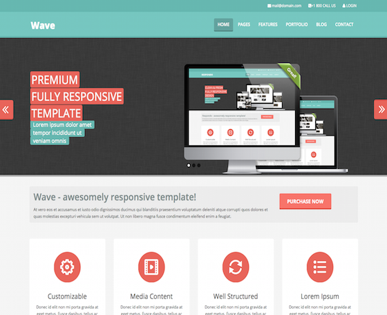 Wave - Multipurpose colorful theme