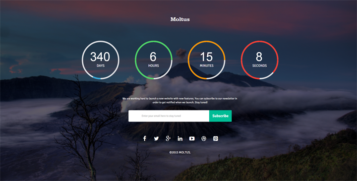 Moltus - Bootstrap Coming soon template