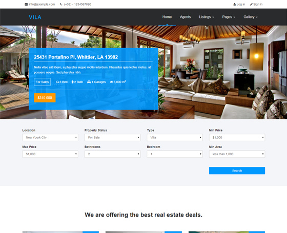 Vila - Responsive Real Estate Template