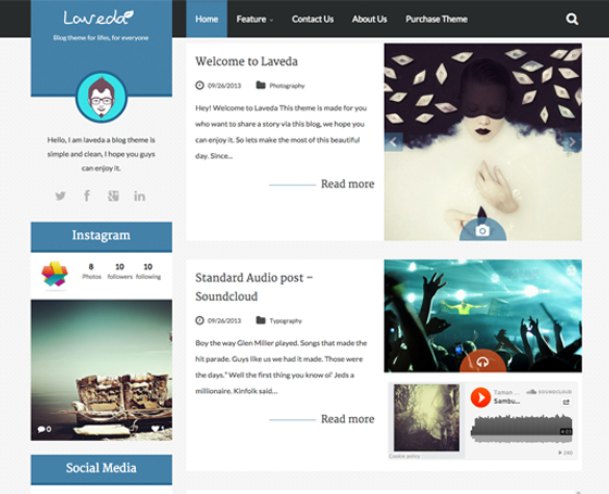 Laveda - Responsive WordPress Blog Theme