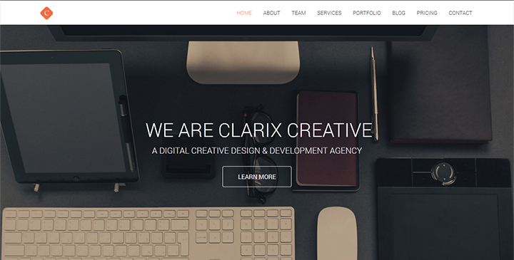 Clarix u2013 Creative Agency One Page HTML5 template