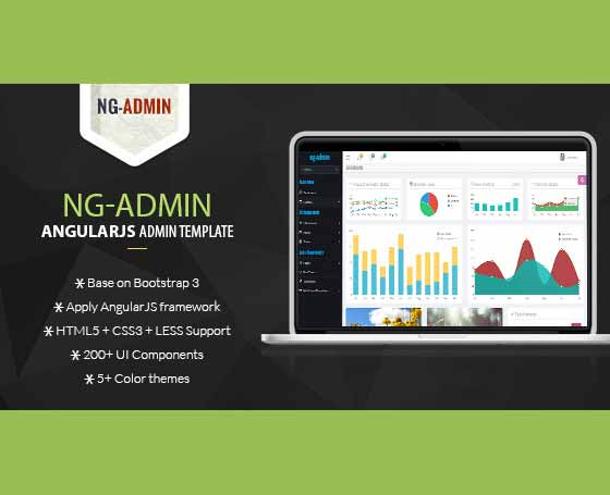 AngularJS Admin Template