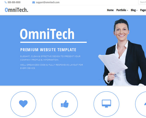 OmniTech - Responsive Bootstrap Theme