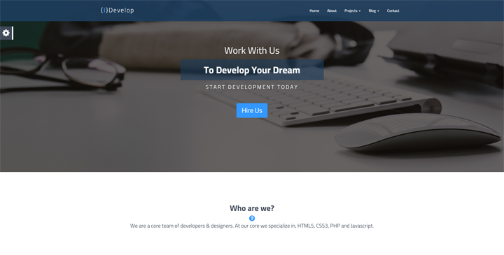 iDevelop - HTML5 Template