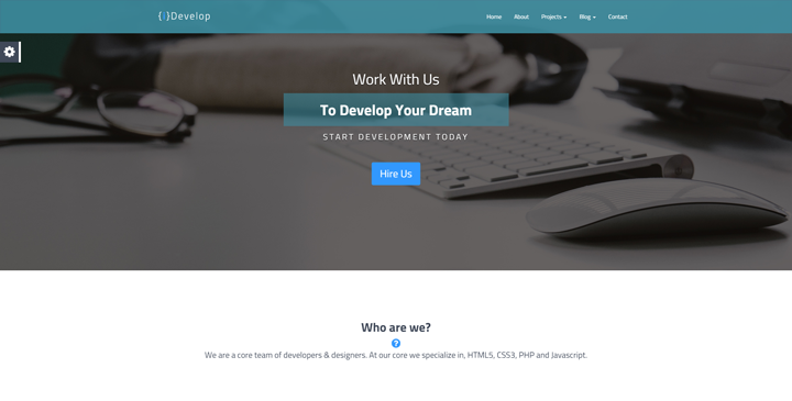 iDevelop - Responsive HTML5 Template