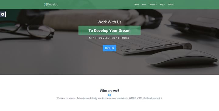 iDevelop - Bootstrap HTML5 Template