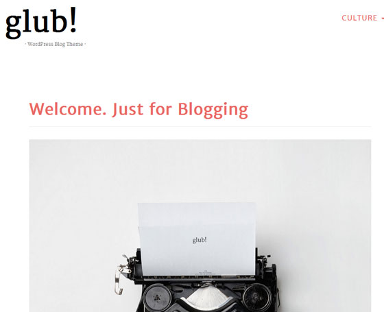Glub! -Clean &; Responsive WordPress Blog