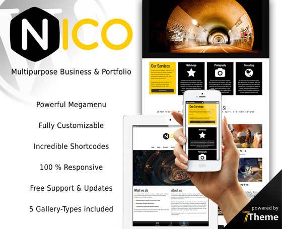 Nico - Multipurpose powerful WP Theme