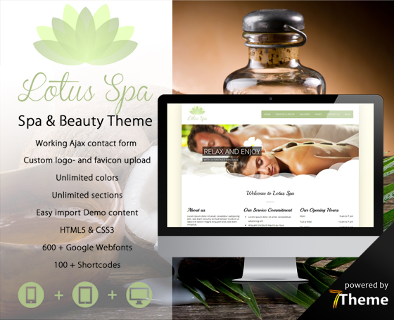 Lotus - Beauty & Wellness Theme