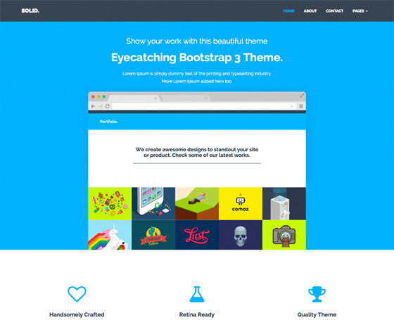Solid -Free Multipurpose Bootstrap Theme
