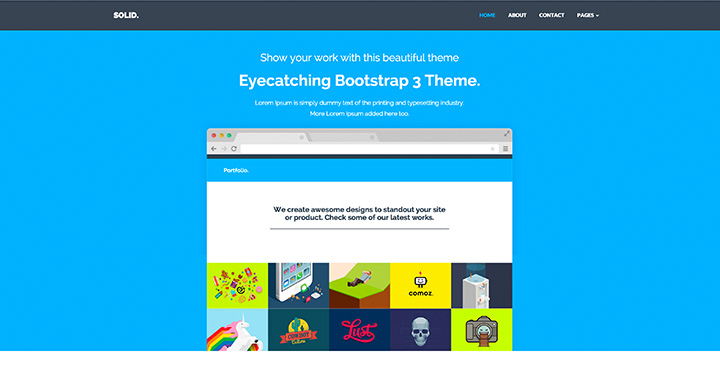Solid -Free Multipurpose Bootstrap Template
