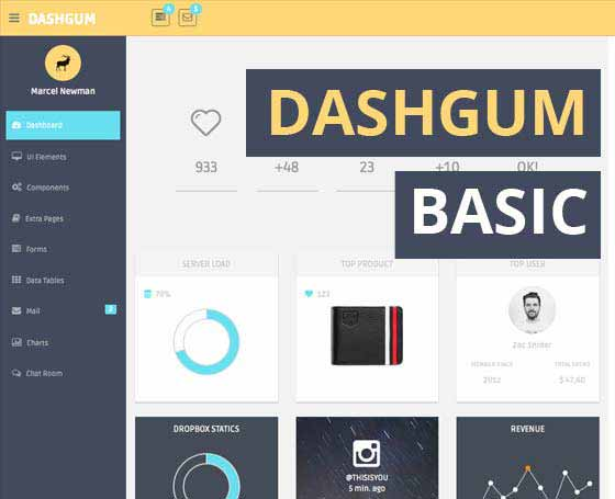 Dashgum Basic - Free Dashboard Template