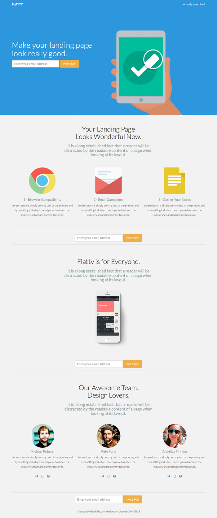 Flatty free bootstrap theme
