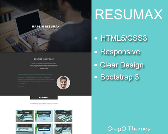 Resumax - One Page Resume Template
