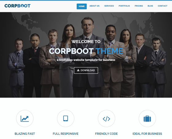 Corpboot - Corporate Website Template