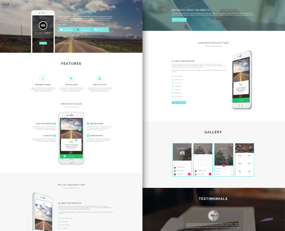 Infinity - Mobile App HTML5 Template