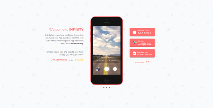 Infinity - Mobile App Bootstrap HTML5 Template