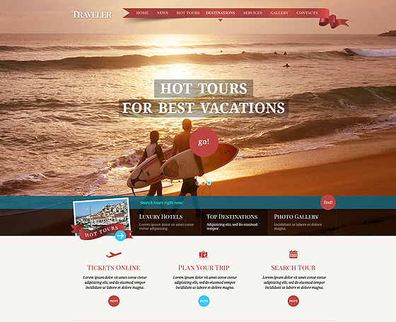 Travel agency free html template