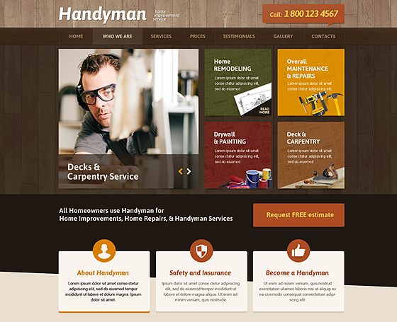 handyman website template